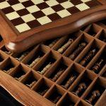 "Chess ""Calvert"" Dark Board"