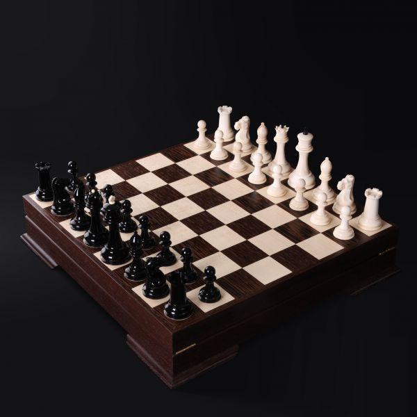 """Chess """"Staunton"""" Mammoth Tusk"""