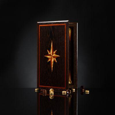 "Backgammon ""Book of The Elite"" Wenge"