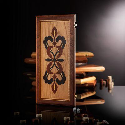 "Backgammon ""Elite Crown"" Mahogany"