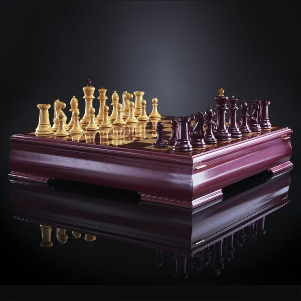 "Chess ""Staunton"" Luxury (Amaranth / Boxwood), Limited Edition"