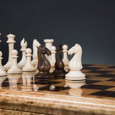 "Chess ""Staunton Elegant"" Mammoth Tusk"