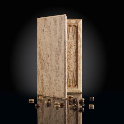 "Backgammon ""Book of Elite"" Karelian Birch"