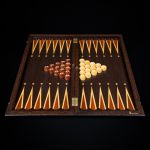 "Backgammon ""Gift Coat of Arms Russia"" Wenge"