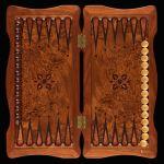"""Backgammon """"Empire"""" Ambyna Root"""