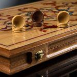 """Backgammon """"Legends of Samarkand"""" (Mahogany Body)"""