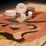 "Backgammon ""Eagle"" Dark Board"