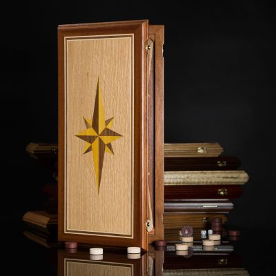 "Backgammon ""Windrose"" Dark Board"