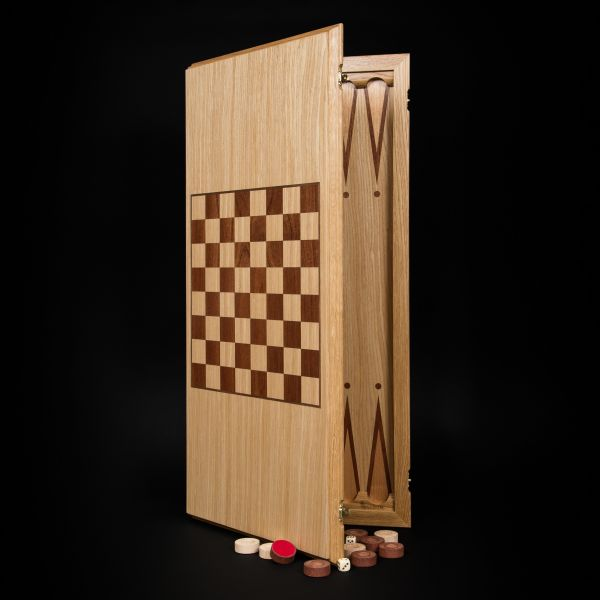 Backgammon-checkers (2 in 1) Light Board