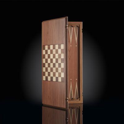 Backgammon-checkers (2 in 1) Dark Board