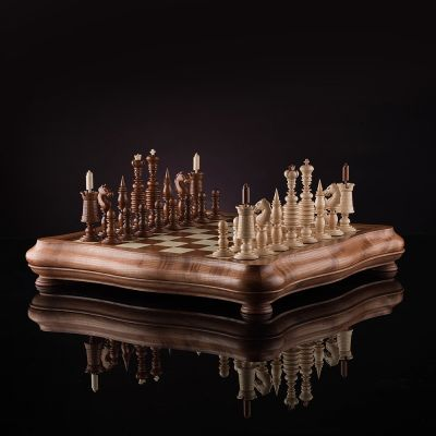 """Chess """"Barleycorn"""" Dark Board"""
