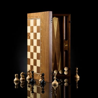 """Chess-backgammon-checkers (3 in 1) """"Everest"""""""