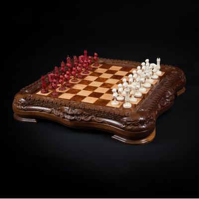 "Chess ""Camelot"" Mammoth Tusk (Custom-made)"