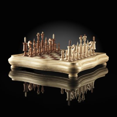 "Chess ""Barleycorn"" Light Board"