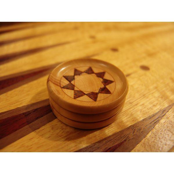 Checkers Boxwood, Diameter 40 mm (Custom-made)