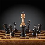 "Chess ""Staunton"" Luxury (Karelian Birch / Makassar), Limited Edition"