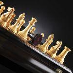 "Chess ""Staunton"" Luxury (Macassar / Boxwood), Limited Edition"