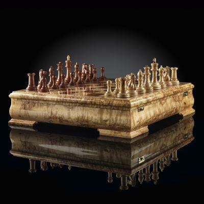 "Chess ""Staunton"" Luxury Mini (Karelian Birch / Bubinga)"