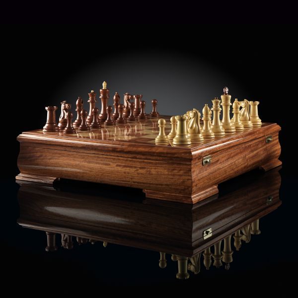 "Chess ""Staunton"" Luxury Mini (Bubinga / Boxwood)"