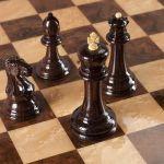 """Chess """"Staunton"""" Luxury (Wenge / Boxwood)"""