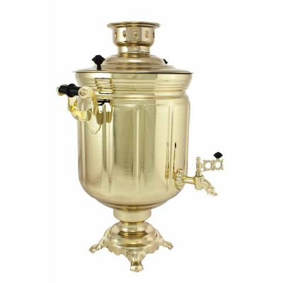 """Samovar electric 10 liters """"Tula""""  Gold Color  (auto power off button)"""