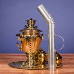 "Samovar on coal, charcoal, firewood 2.5 liters ""Practical"" set in ""Present"""