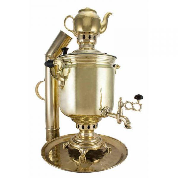 """Samovar on coal, charcoal, firewood 7 liters """"Classic"""" in the set of """"Present"""""""