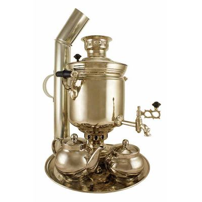 """Samovar on coal, charcoal, firewood 5 liters """"Classic"""" in the set """"Gift"""""""