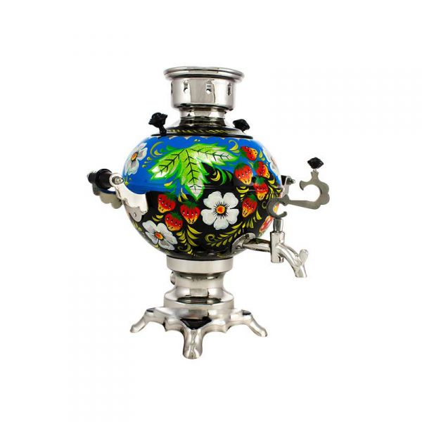 "Samovar electric 3 liters ""Ball"" hand-painting ""Forest Glade"" (no auto power off button)"