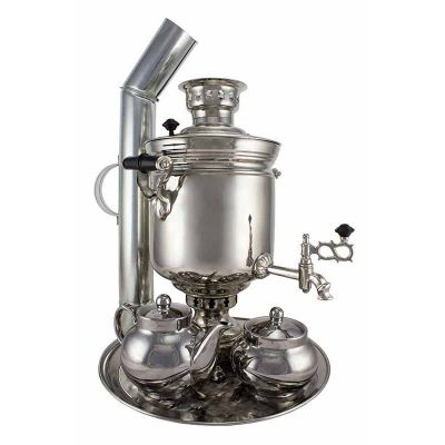 """Samovar on coal, charcoal, firewood 5 liters """"Original"""" in the set """"Gift"""""""