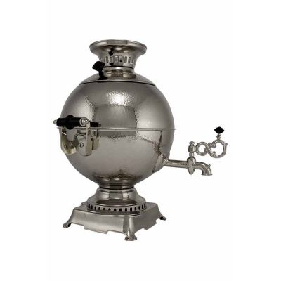 """Samovar electric 3 liters """"Tula"""" in the set """"Classic Gzhel"""" hand-painting (auto power off button)"""