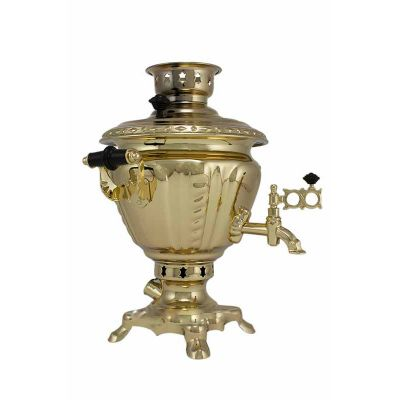 """Samovar electric 4 liters """"Suksun"""" copperplated (auto power off button)"""