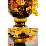 """Samovar electric 3 liters """"Tula"""" in the set """"Classic Khokhloma"""" hand-painting (auto power off button)"""