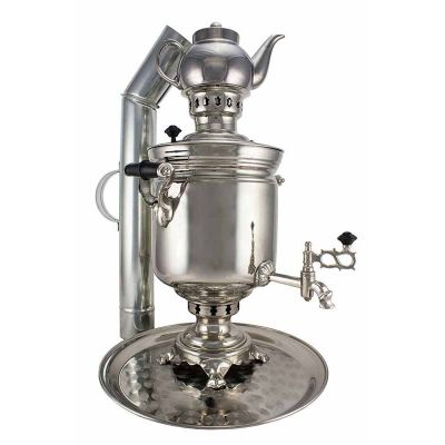 """Samovar on coal, charcoal, firewood 5 liters """"Original"""" in the set of """"Present"""""""