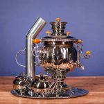 """Samovar combined (electric or coal, charcoal, firewood) 4.5 liters """"Ball"""""""